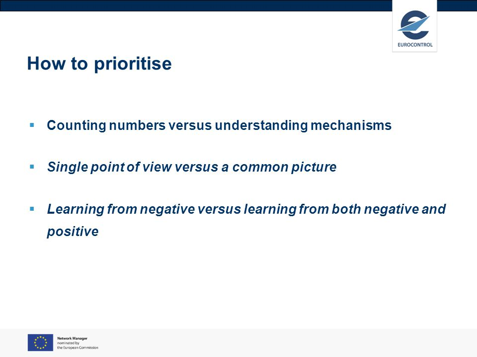 How to prioritise Counting numbers versus understanding mechanisms