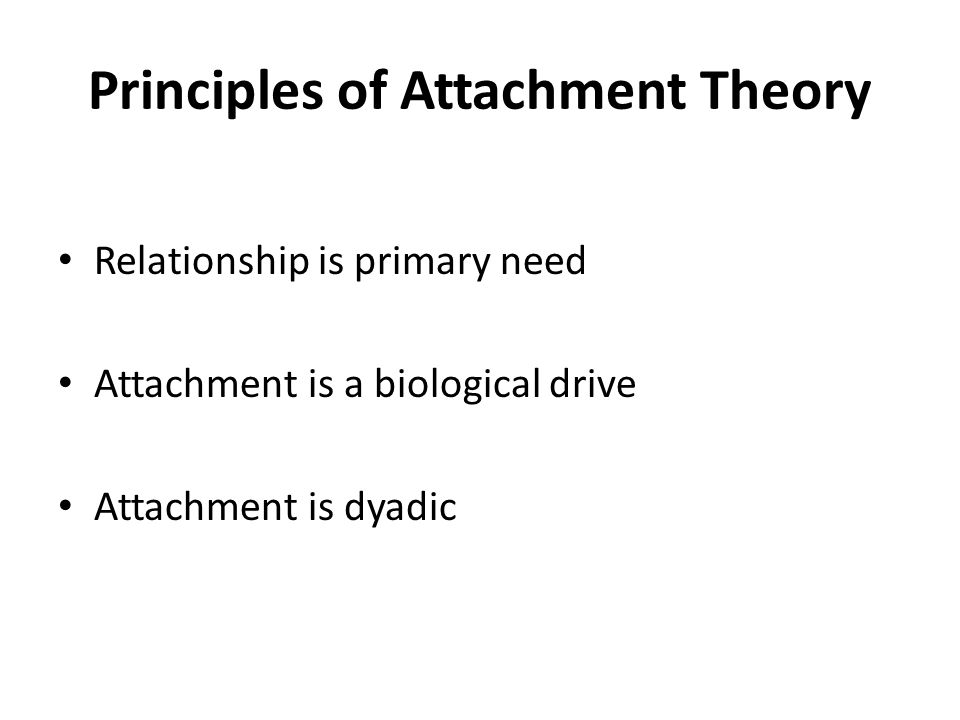 Principles of Attachment Theory