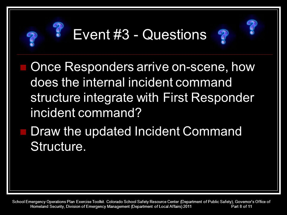 Event #3 - Questions