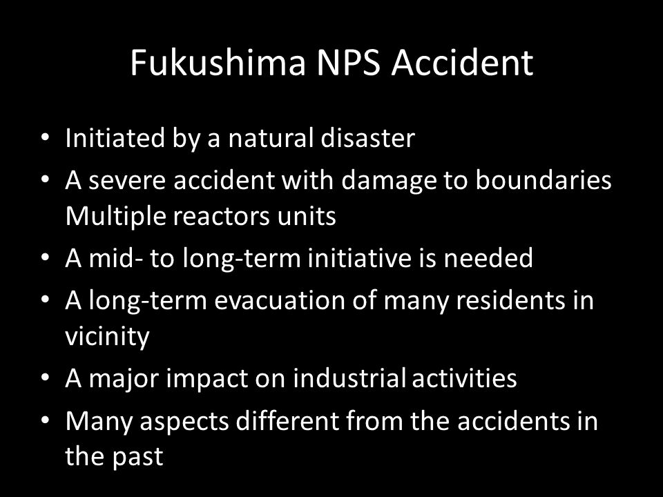 Fukushima NPS Accident