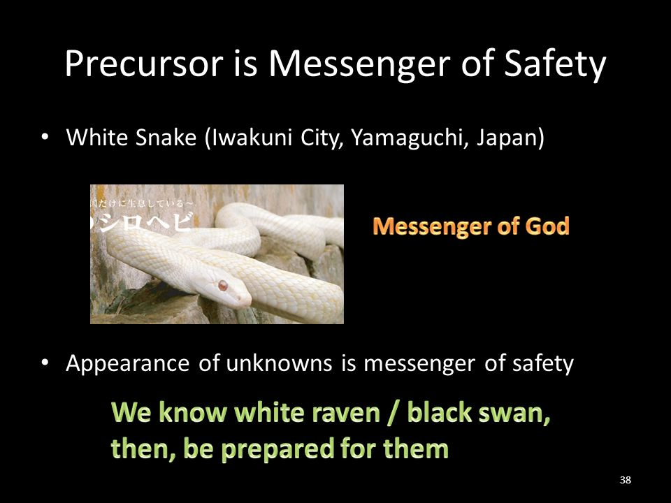 Precursor is Messenger of Safety