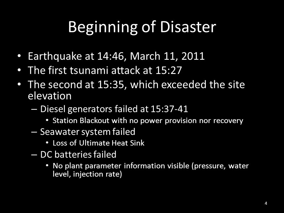 Beginning of Disaster Earthquake at 14:46, March 11, 2011