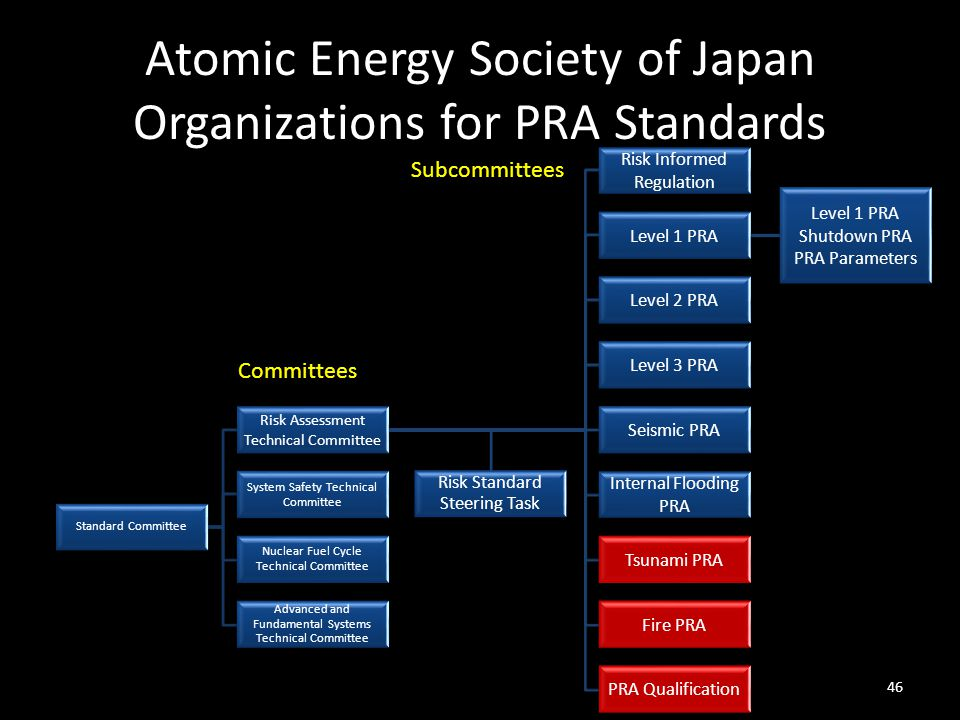 Atomic Energy Society of Japan Organizations for PRA Standards