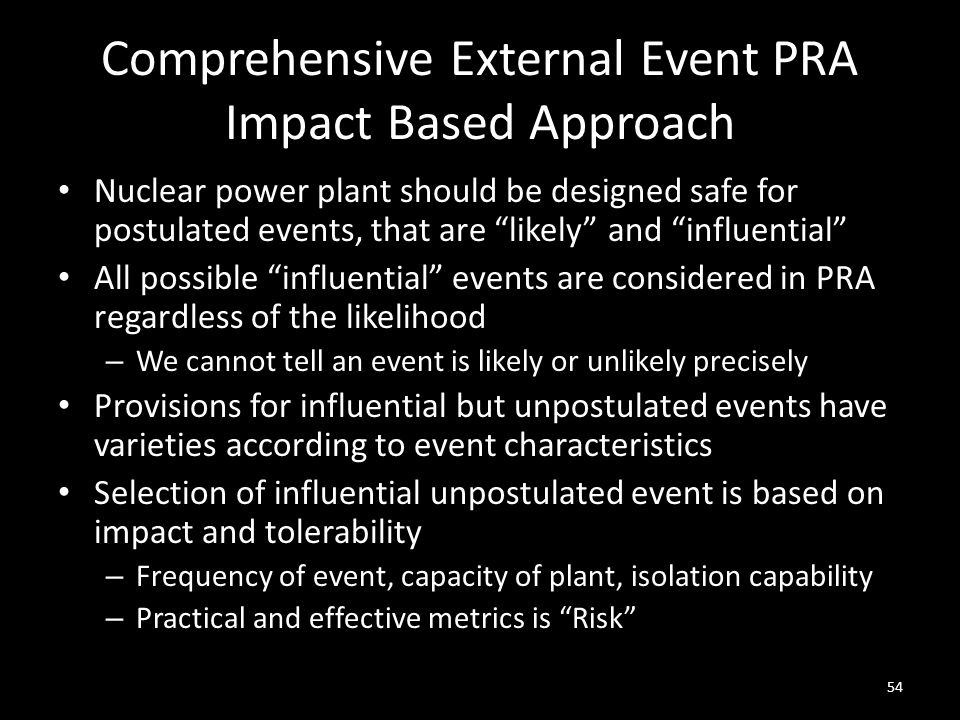 Comprehensive External Event PRA Impact Based Approach