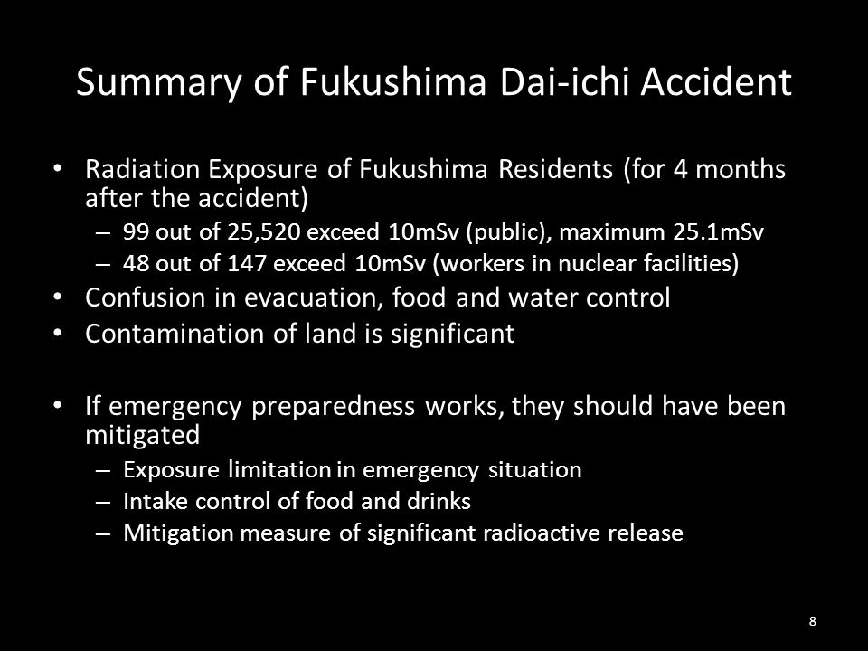 Summary of Fukushima Dai-ichi Accident