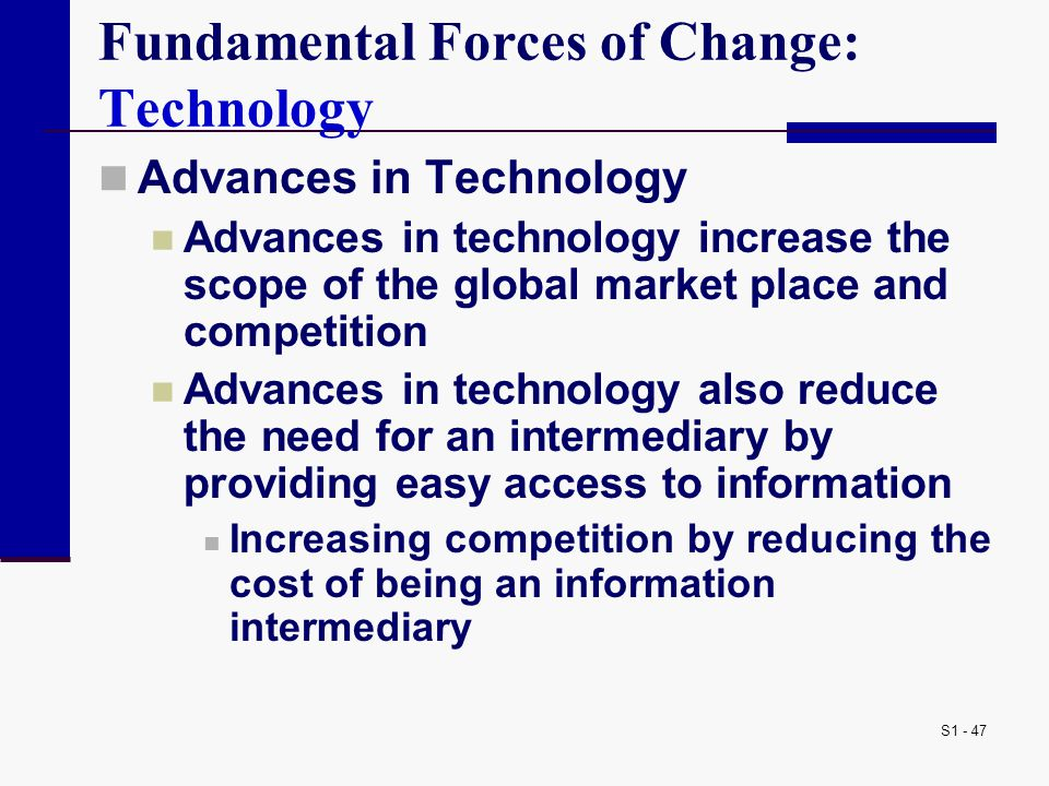 Fundamental Forces of Change: Technology
