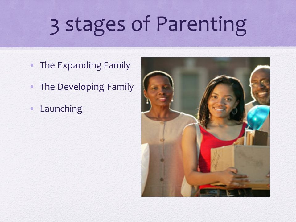 3 stages of Parenting The Expanding Family The Developing Family