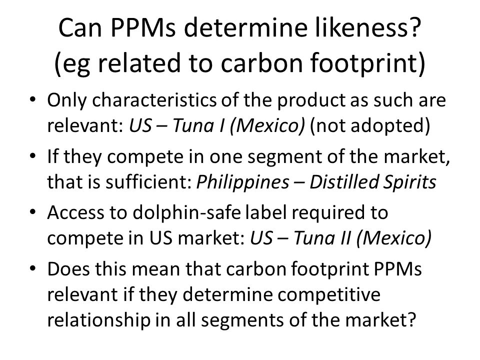 Can PPMs determine likeness (eg related to carbon footprint)
