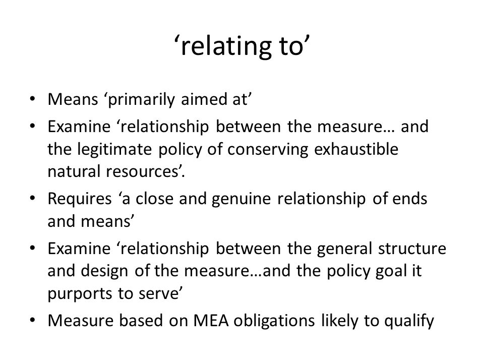 'relating to' Means 'primarily aimed at'