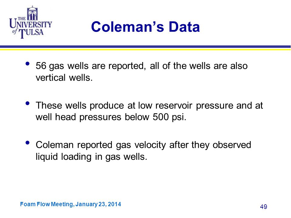 Coleman's Data 56 gas wells are reported, all of the wells are also vertical wells.