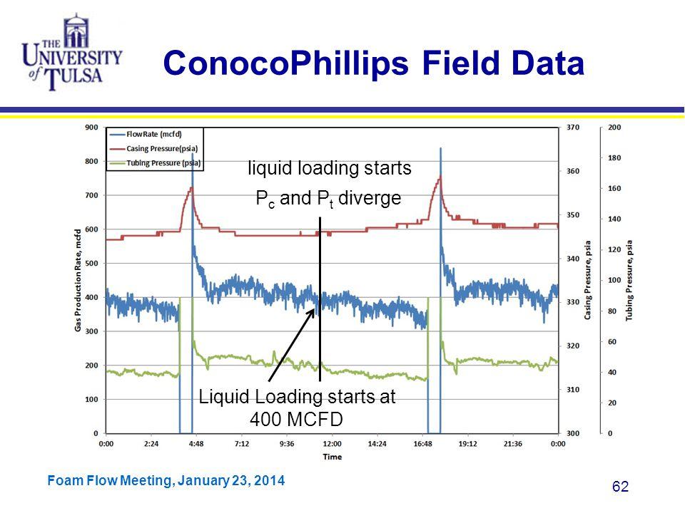 ConocoPhillips Field Data