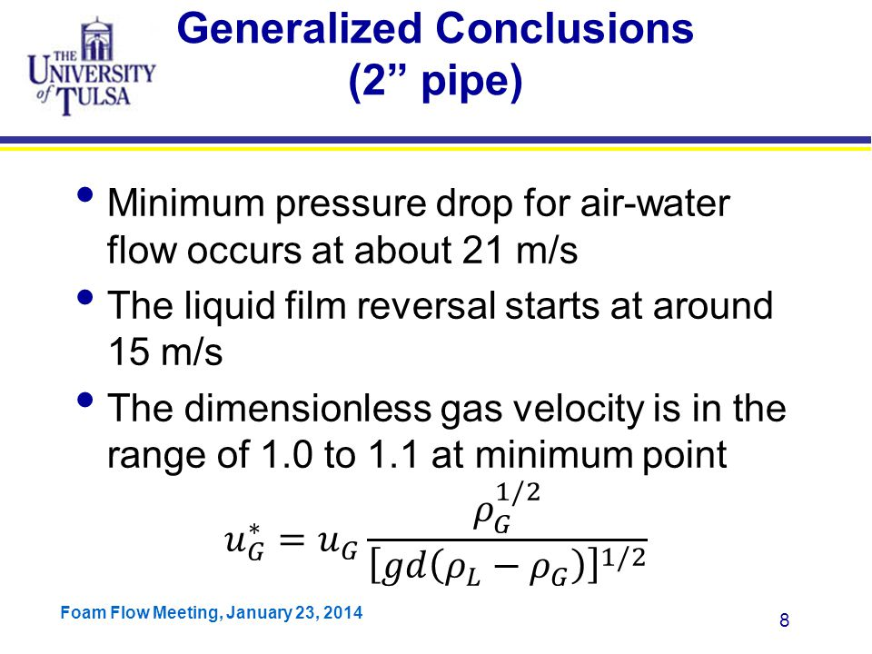 Generalized Conclusions (2 pipe)