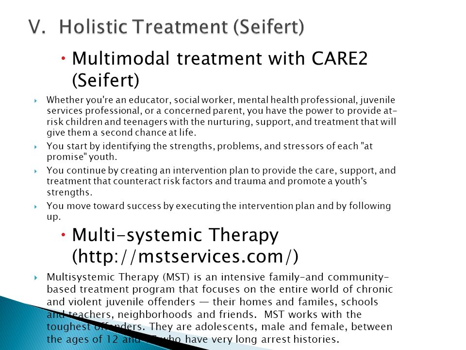 V. Holistic Treatment (Seifert)