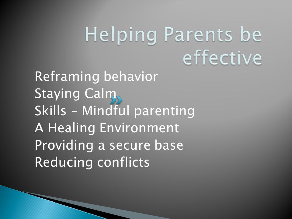 Helping Parents be effective