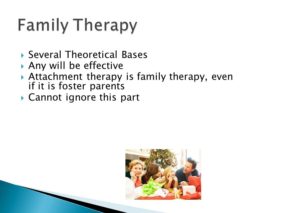 Family Therapy Several Theoretical Bases Any will be effective