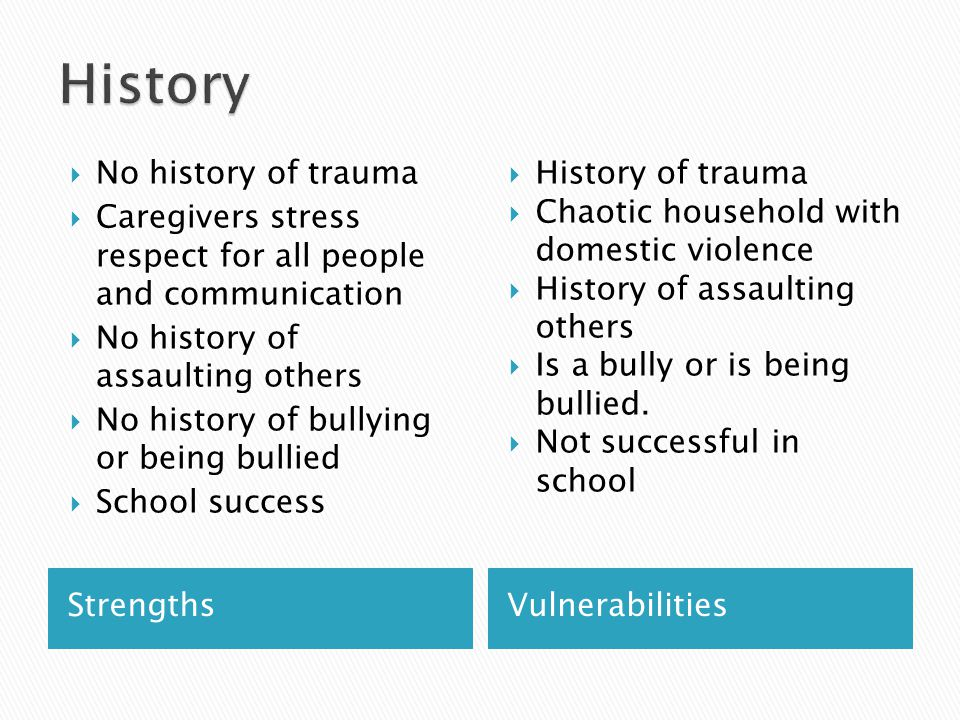 History No history of trauma