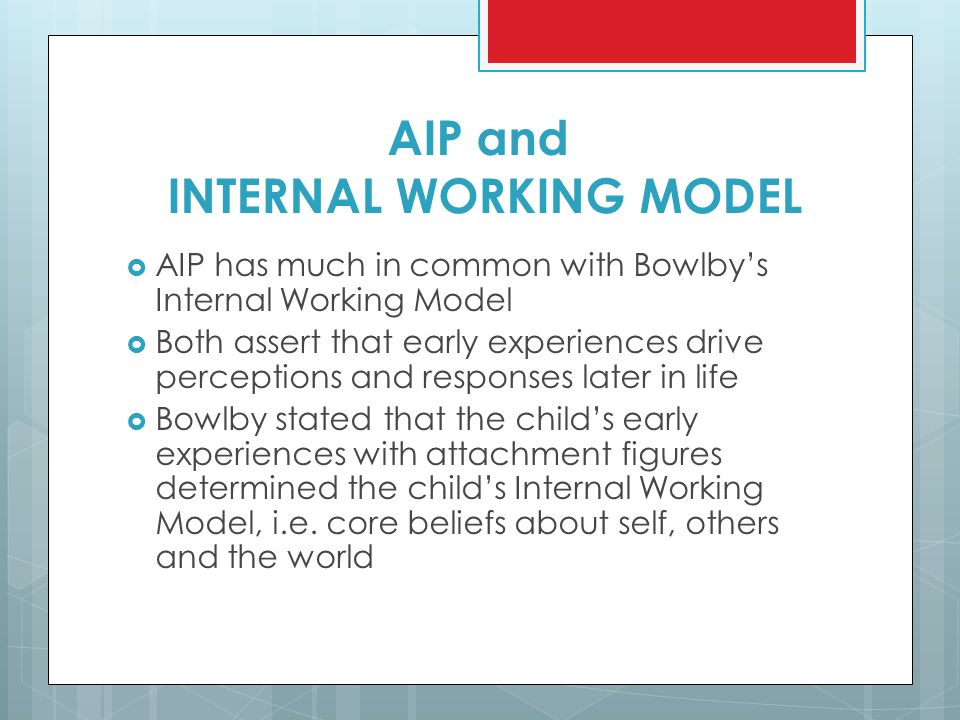AIP and INTERNAL WORKING MODEL