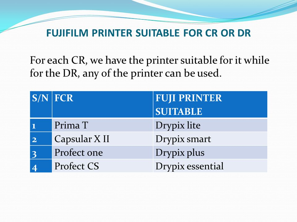 FUJIFILM PRINTER SUITABLE FOR CR OR DR