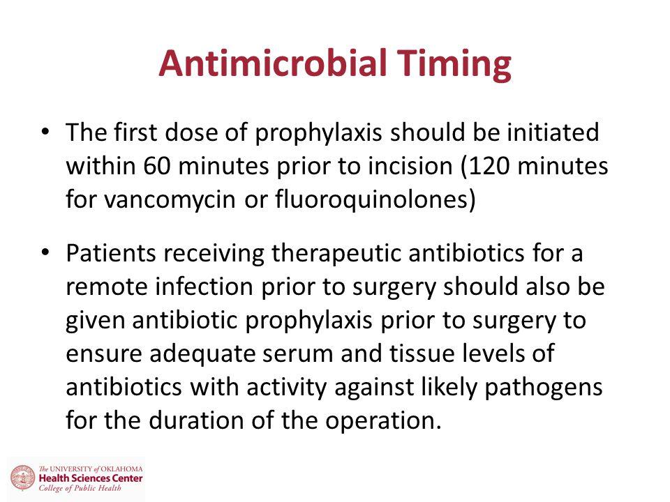 Antimicrobial Timing