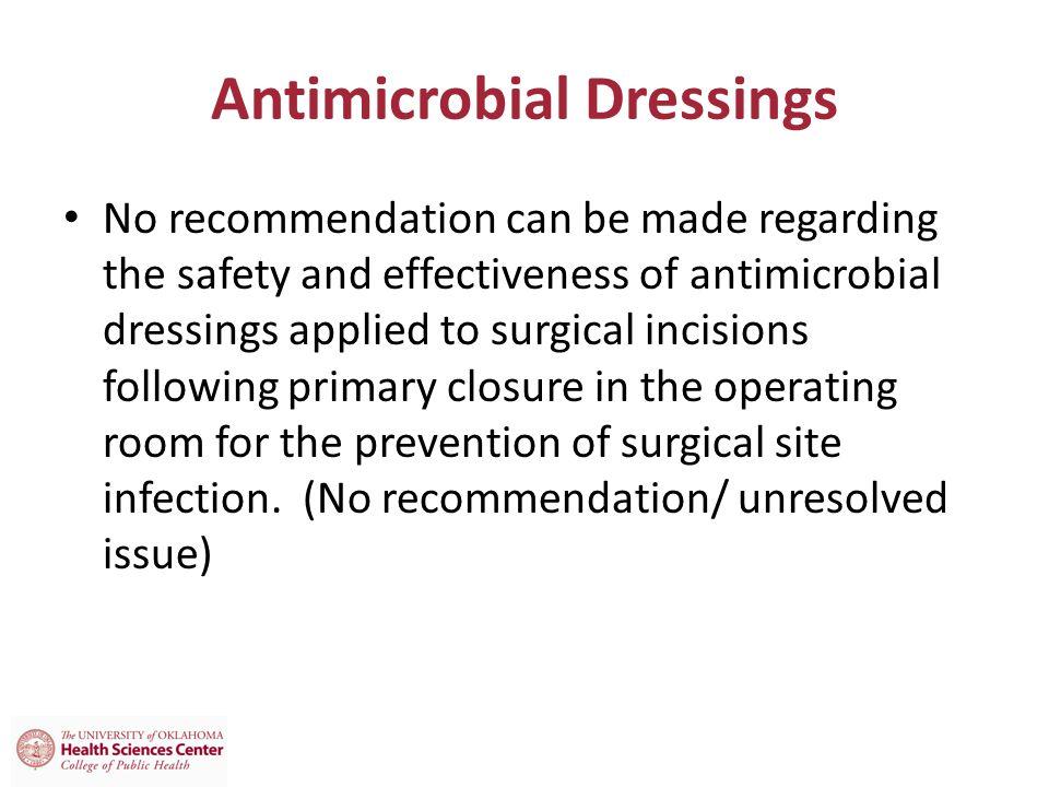 Antimicrobial Dressings