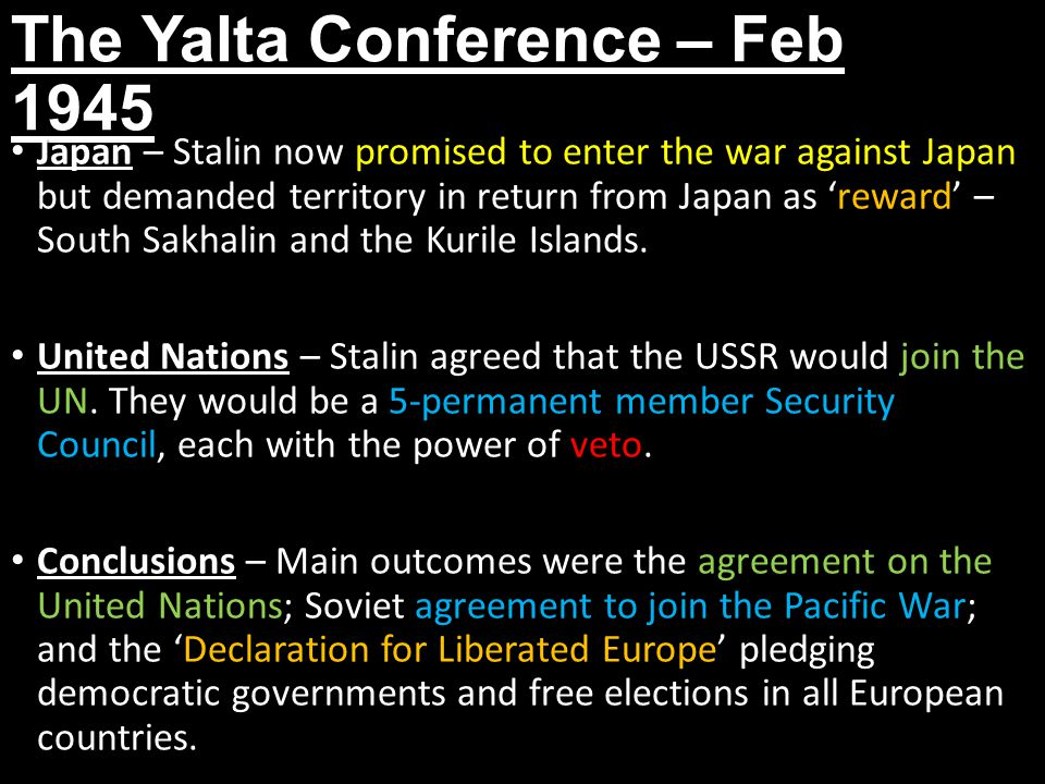 The Yalta Conference – Feb 1945
