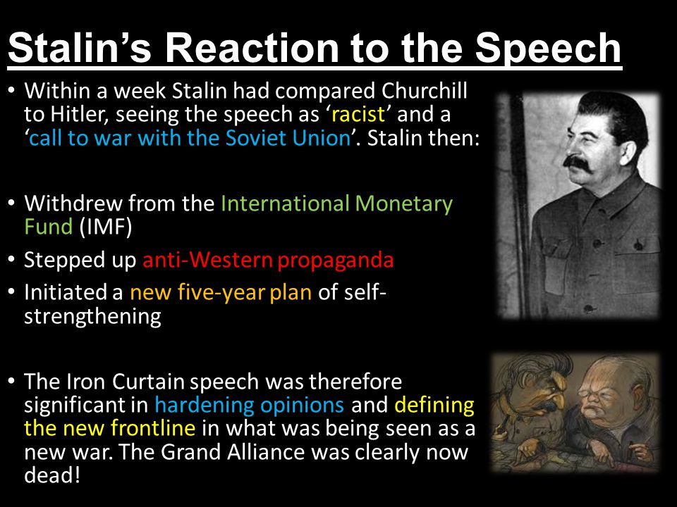 Stalin's Reaction to the Speech