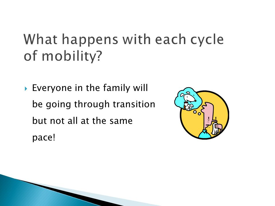 What happens with each cycle of mobility