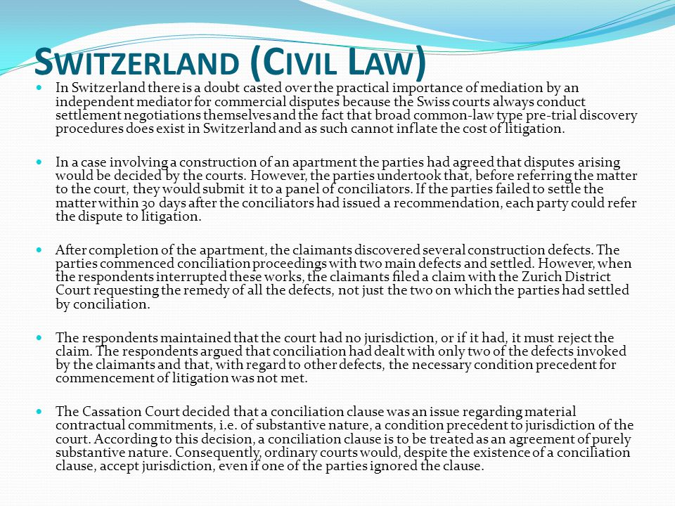 Switzerland (Civil Law)
