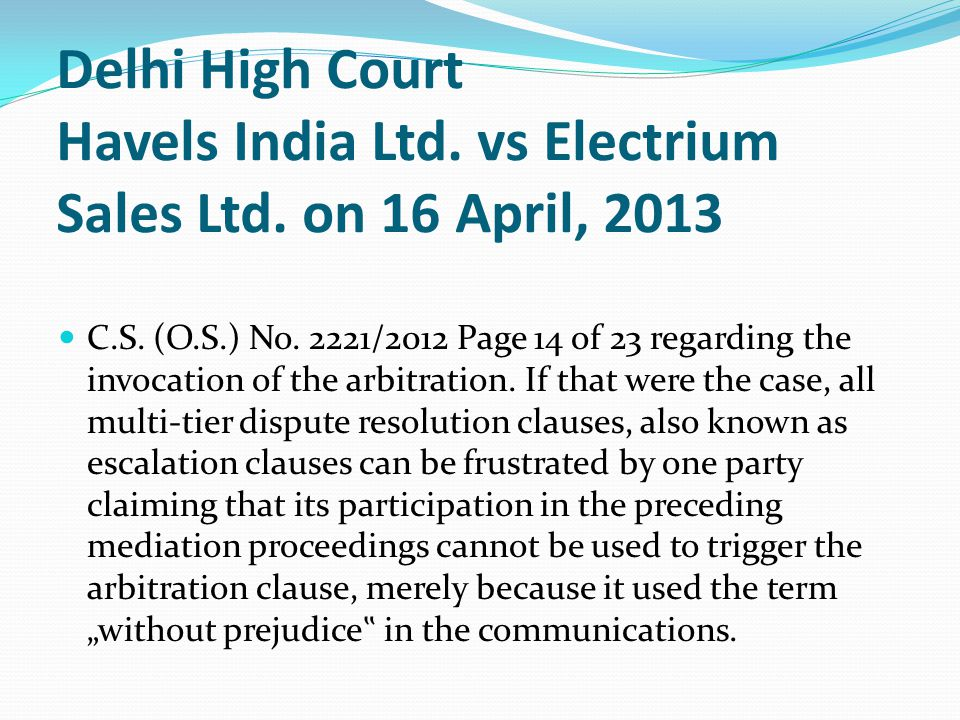 Delhi High Court Havels India Ltd. vs Electrium Sales Ltd