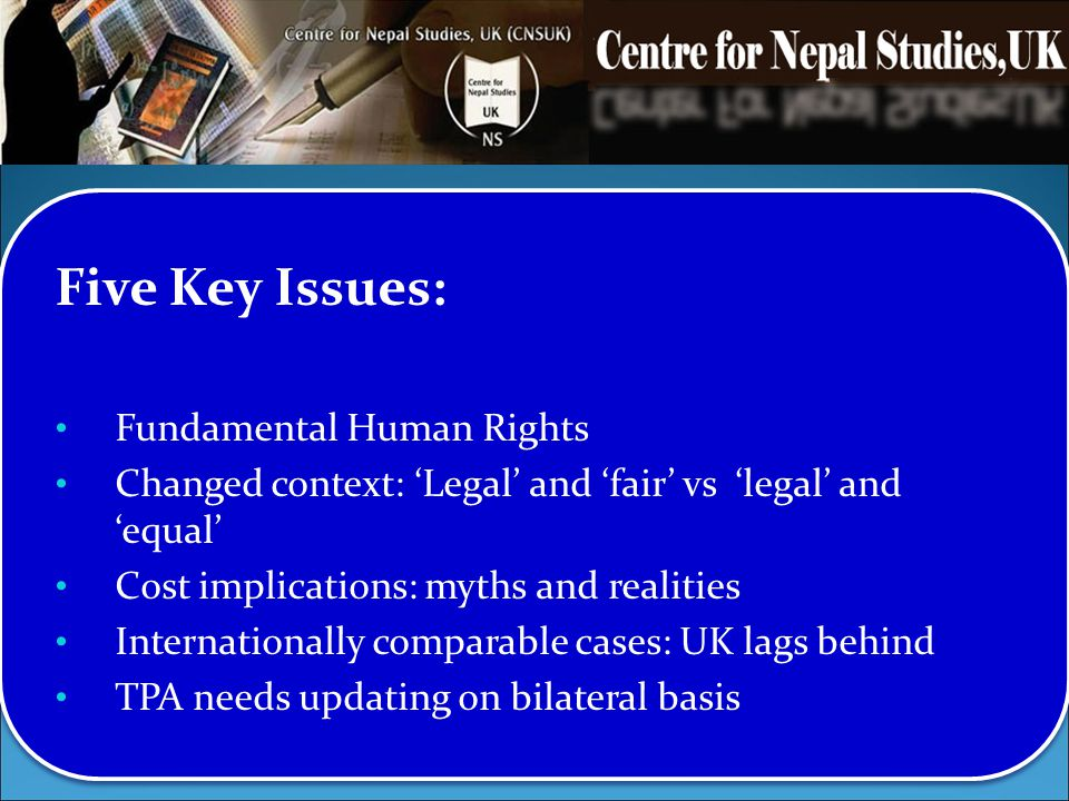 Five Key Issues: Fundamental Human Rights