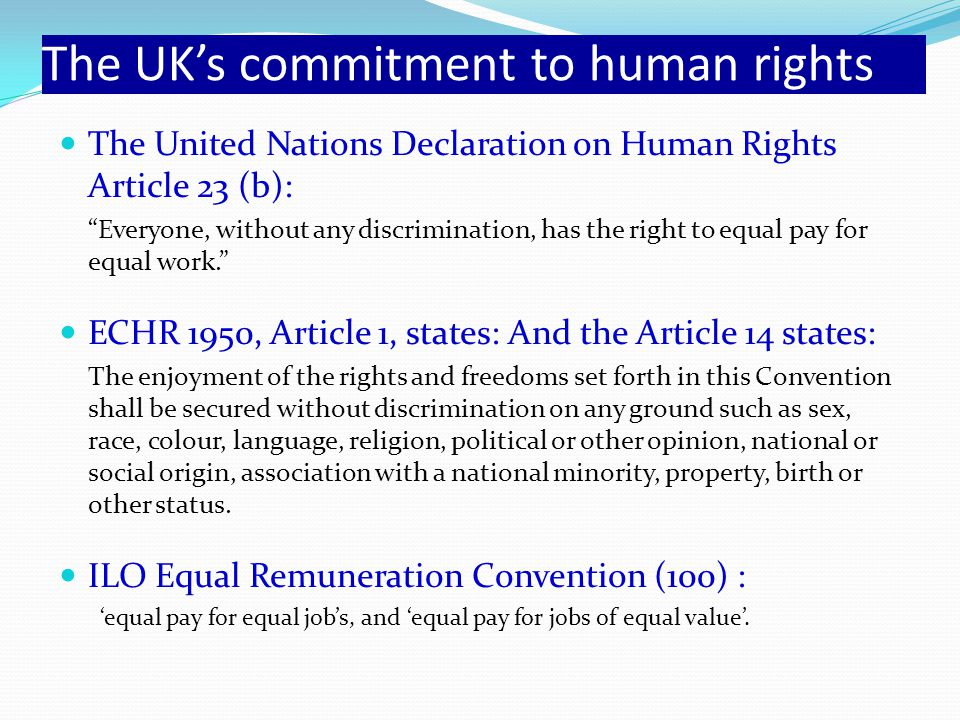 The UK's commitment to human rights