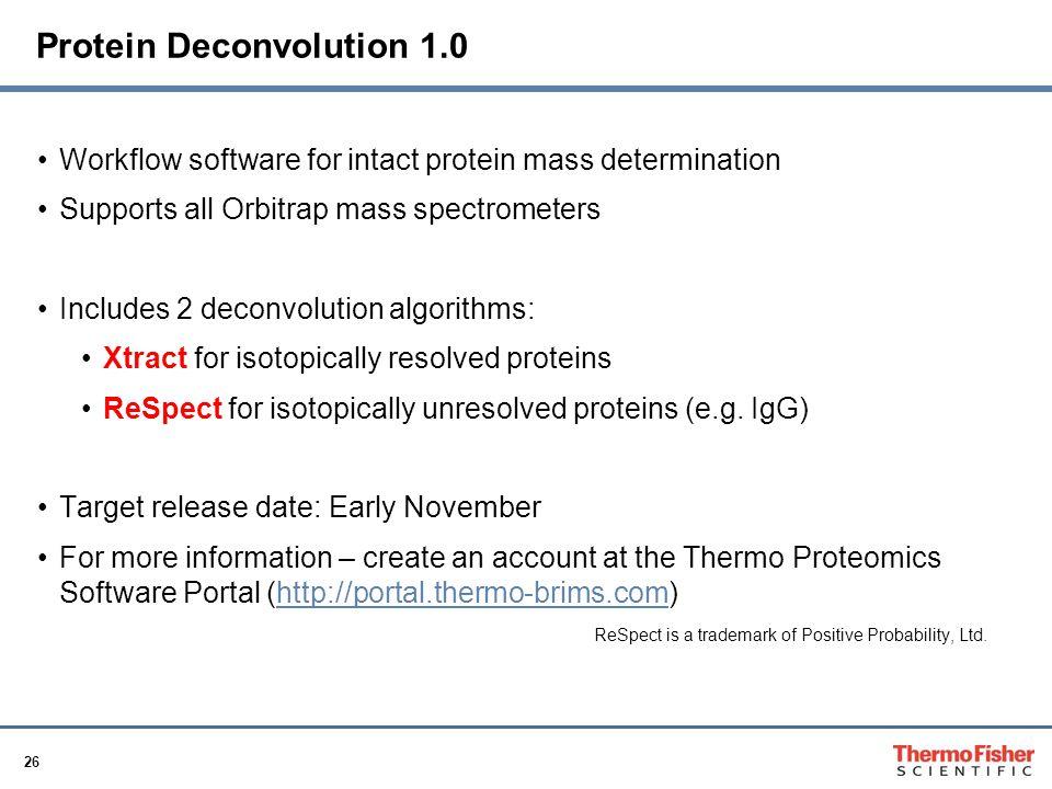 Protein Deconvolution 1.0