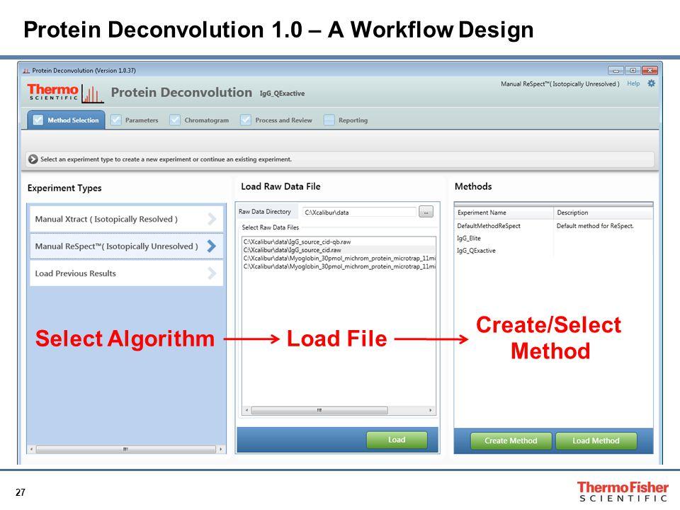 Protein Deconvolution 1.0 – A Workflow Design