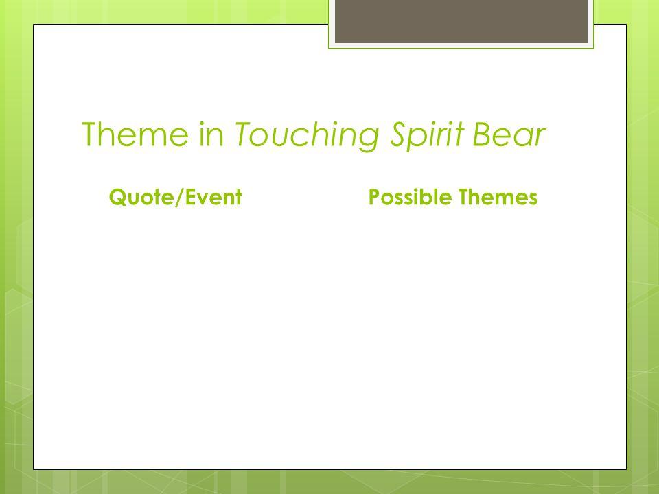 Theme in Touching Spirit Bear