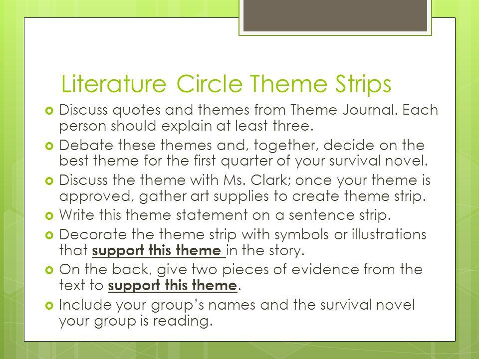Literature Circle Theme Strips