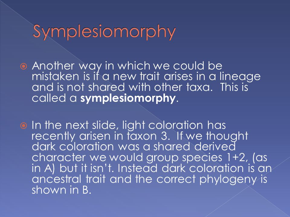 Symplesiomorphy