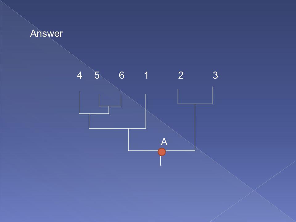 Answer 4 5 6 1 2 3 A