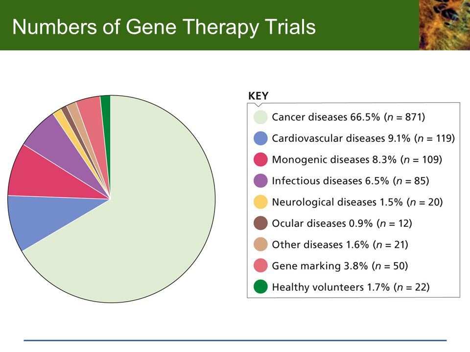 Numbers of Gene Therapy Trials