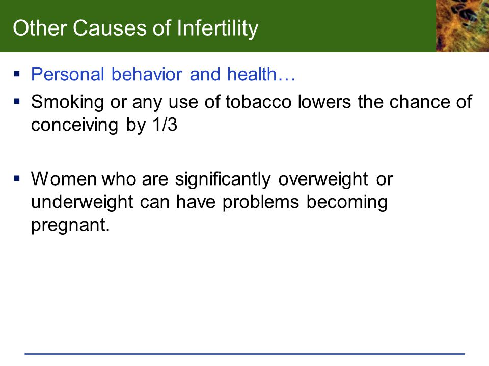 Other Causes of Infertility