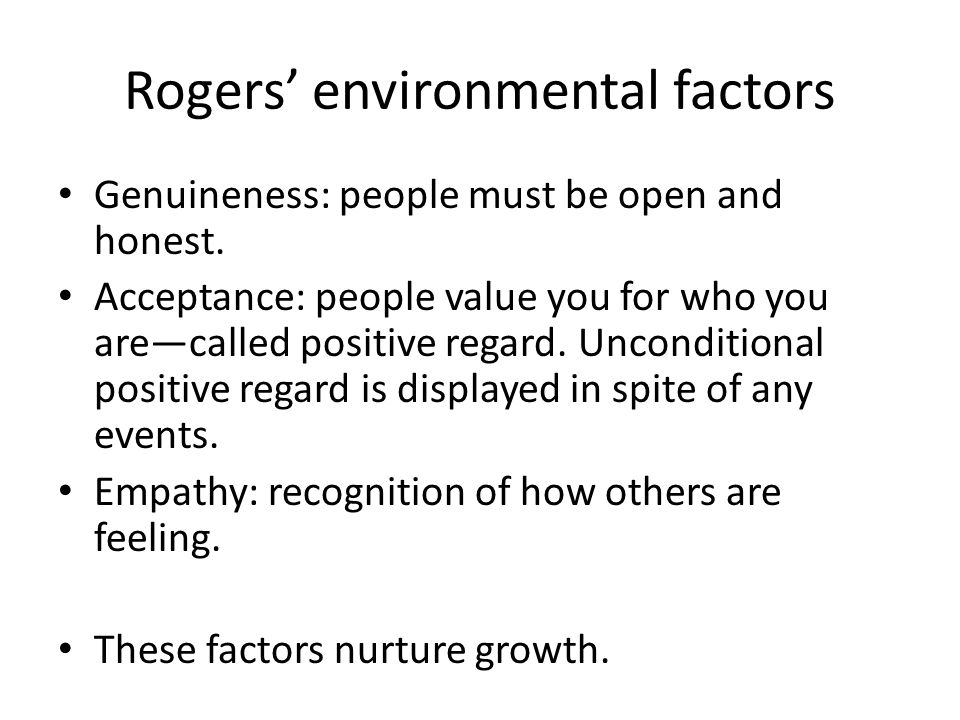 Rogers' environmental factors