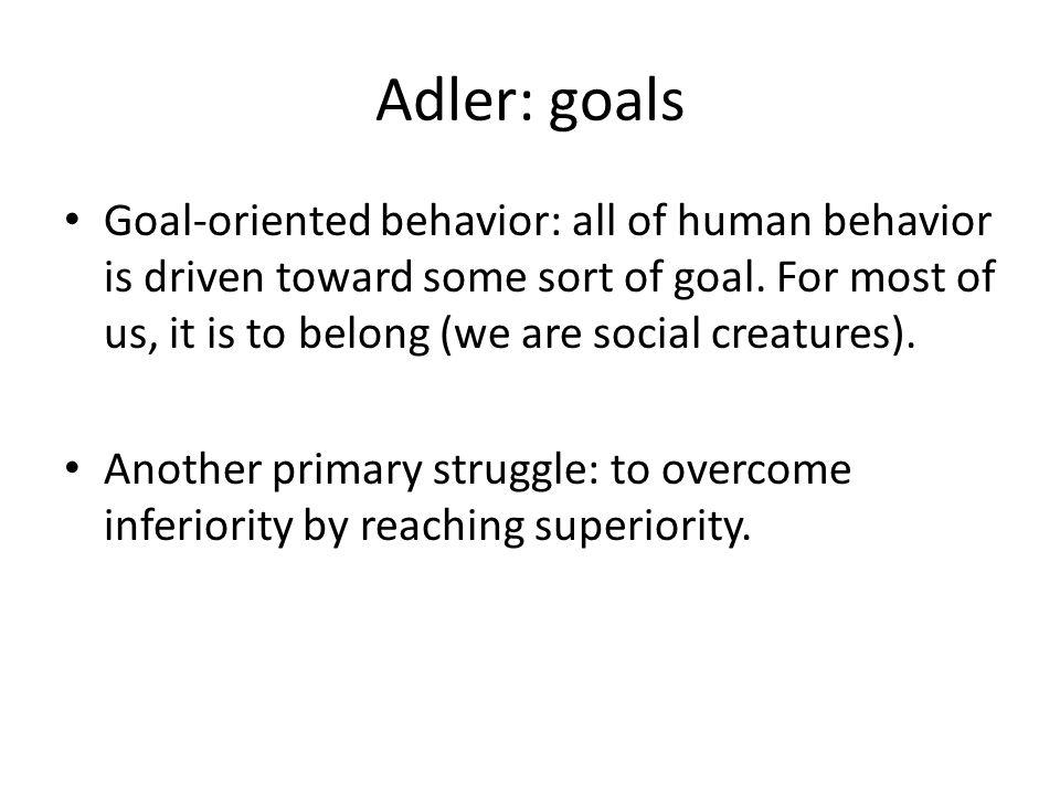 Adler: goals