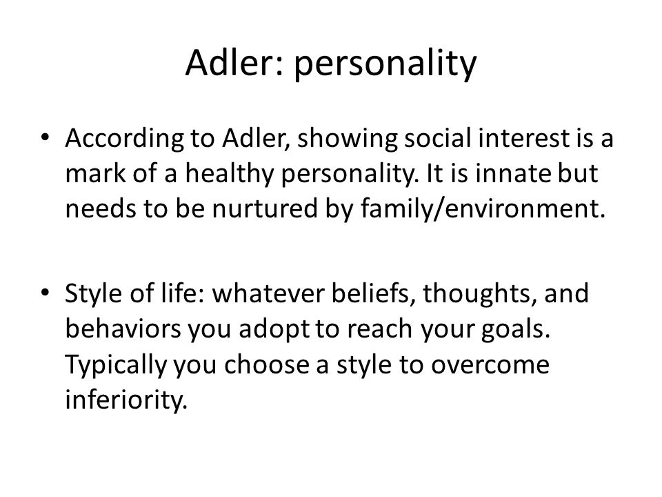 Adler: personality