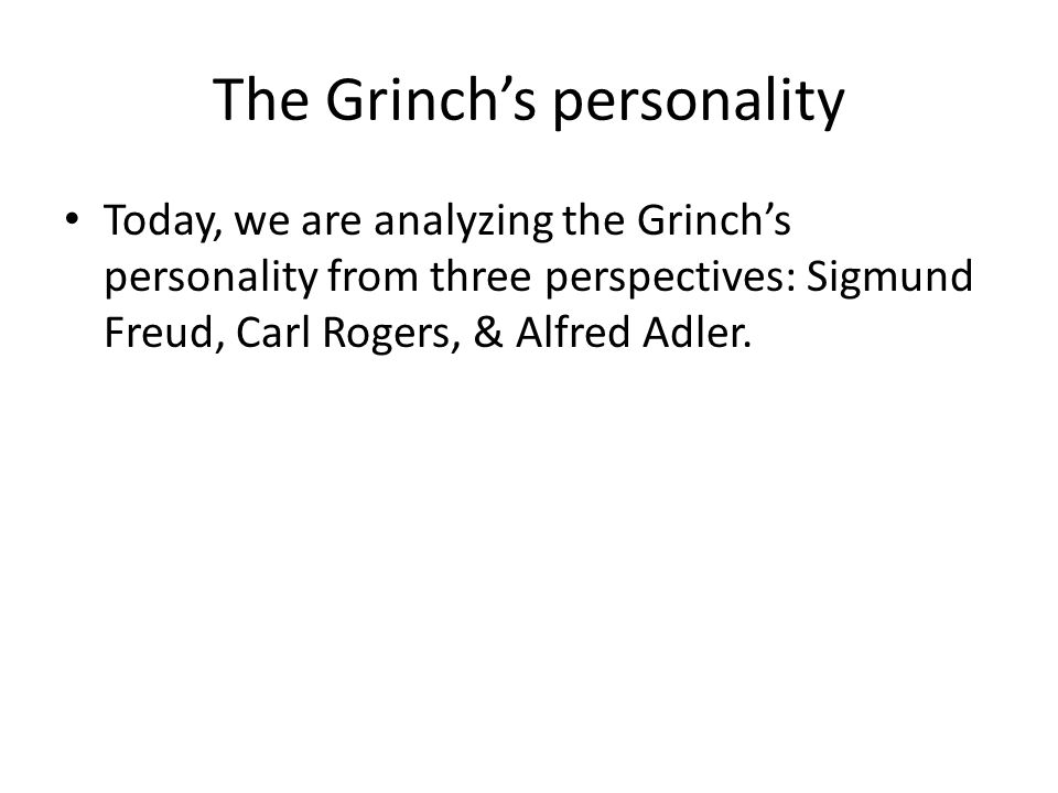 The Grinch's personality