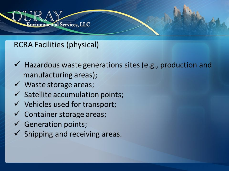 RCRA Facilities (physical)