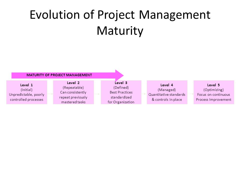 Evolution of Project Management Maturity