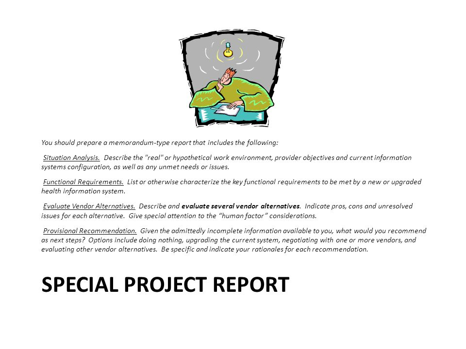 Special Project Report