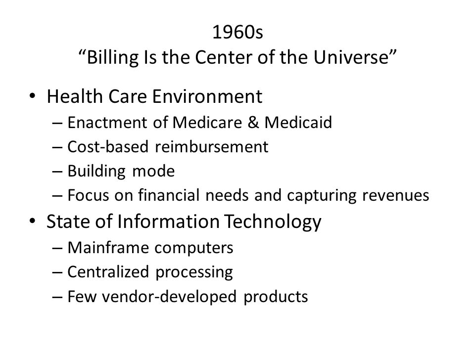 1960s Billing Is the Center of the Universe