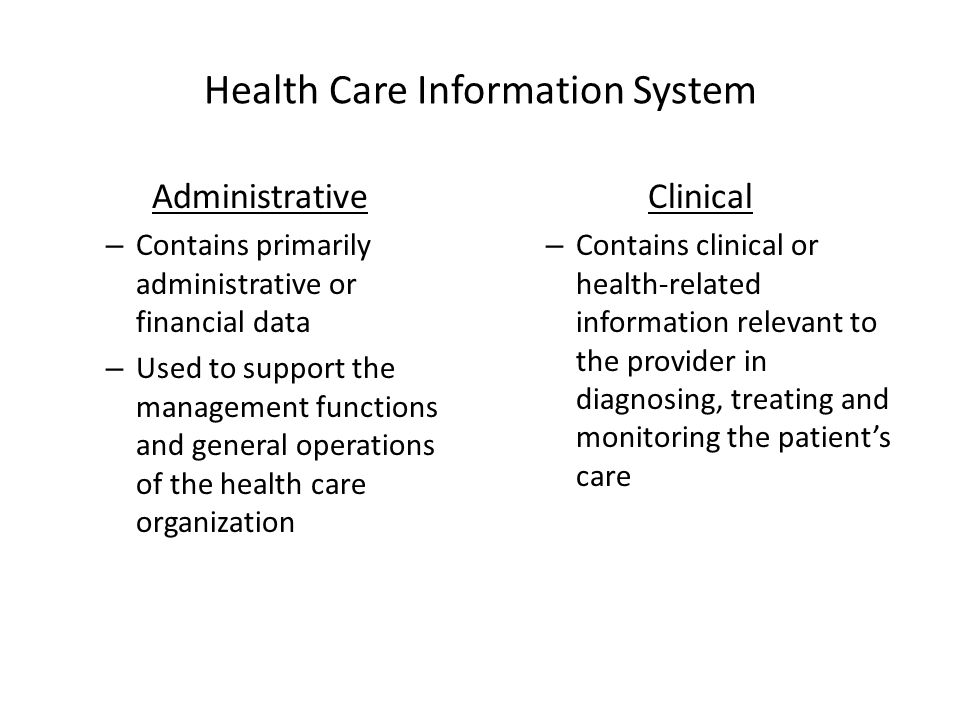 Health Care Information System
