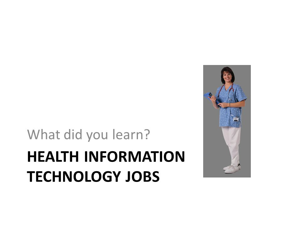 Health Information Technology Jobs