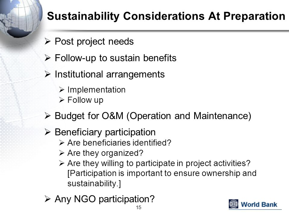 Sustainability Considerations At Preparation